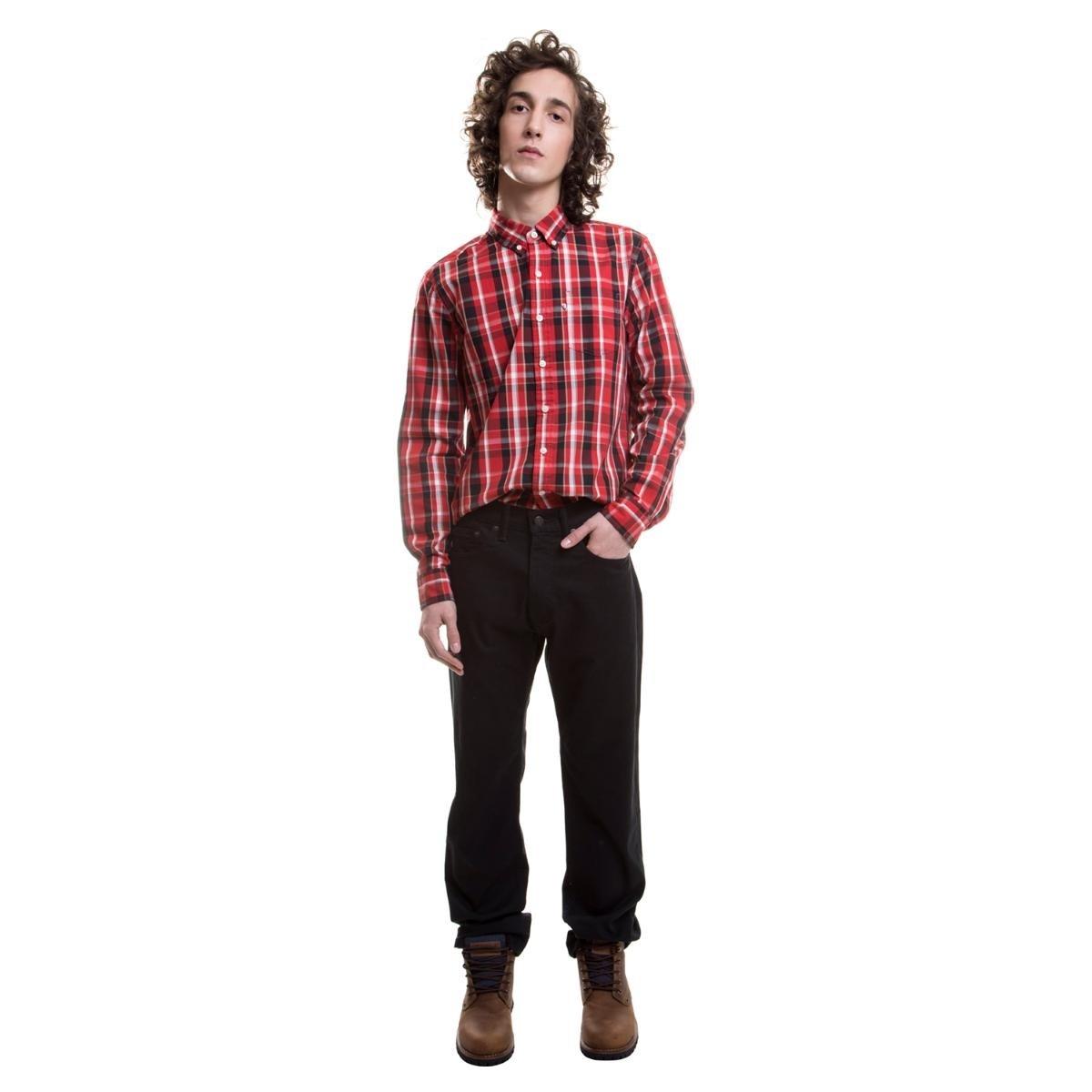 e9d2d61d03dfb Calça Jeans Levis Masculino 505 Regular - Preto - Compre Agora