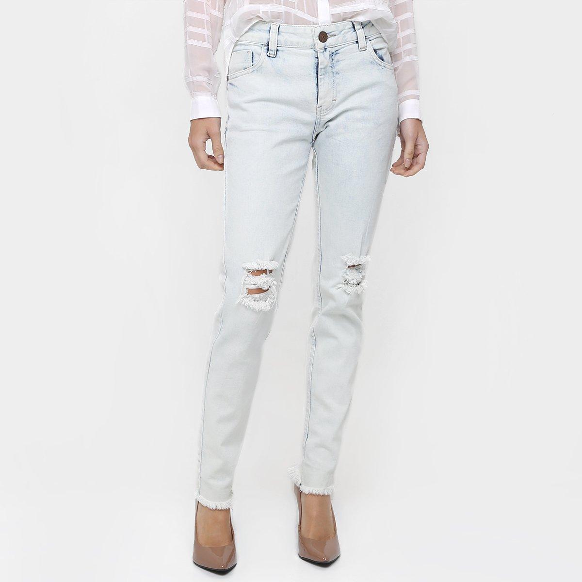 c648e4add Calça Jeans M. Officer Skinny Rasgada - Compre Agora | Zattini