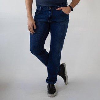 Calça Jeans Masculina Slim Jeans Escuro Algodão Anticorpus