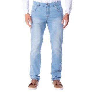 Calça Jeans Masculina V12 Slim Azul Claro