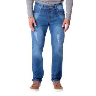 Calça Jeans Masculina V12 Slim Azul