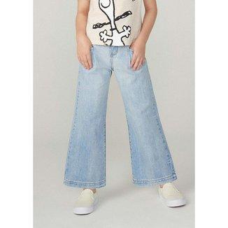 Calça Jeans Menina Pantalona - C5FH1ASN9 Feminina