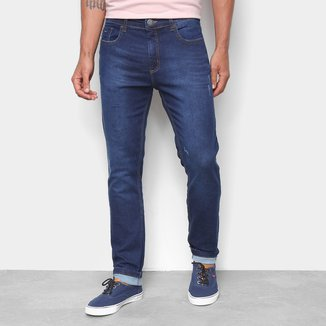 Calça Jeans Moletom Hering Skinny Estonada Masculina