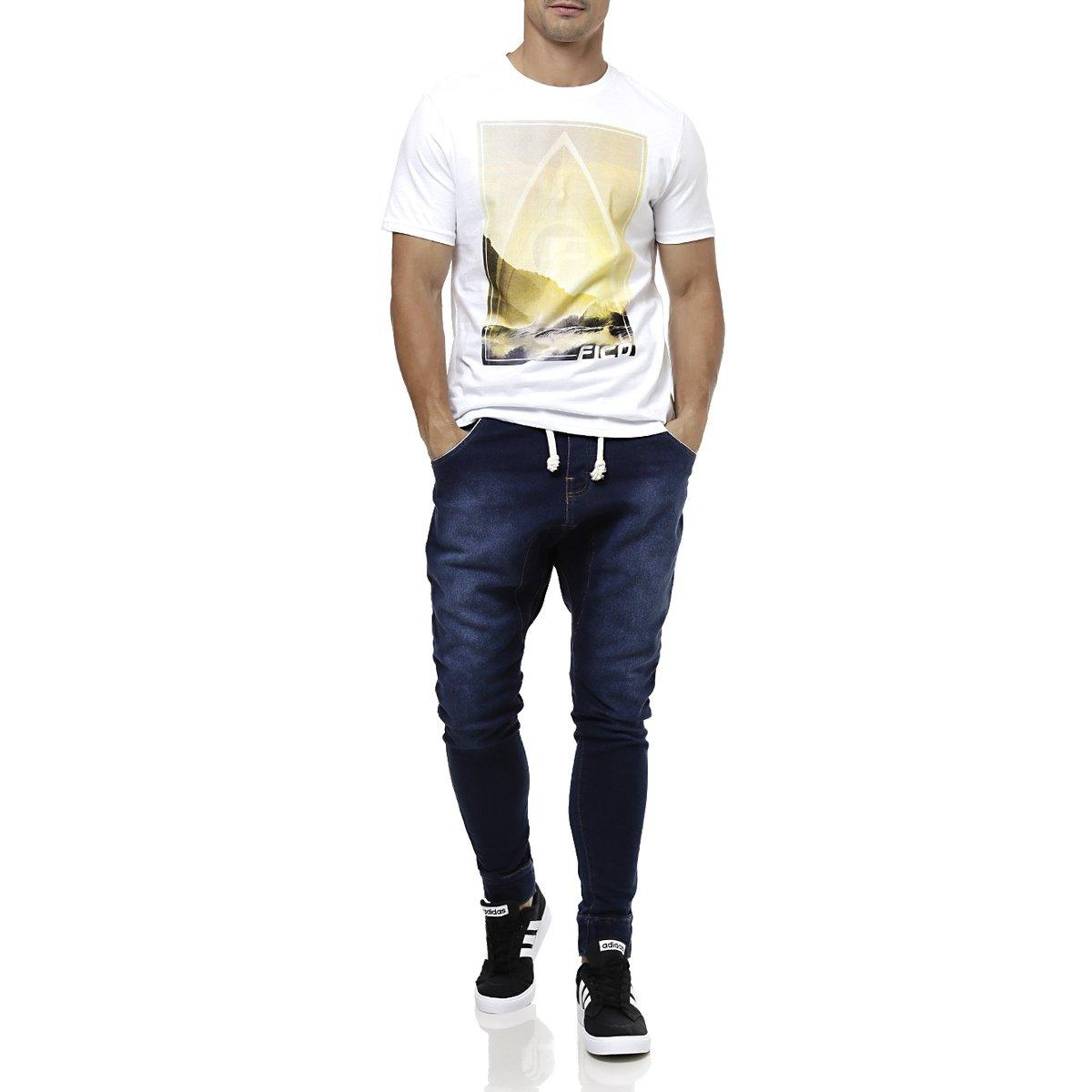 Calça Jeans Moletom Masculina Gangster Azul - Compre Agora  24307e93ad92c