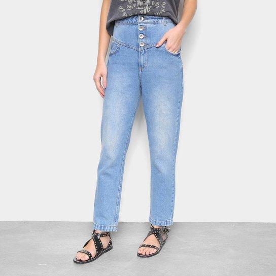 Calça Jeans Mom Colcci Camila Cintura Alta Feminina - Azul
