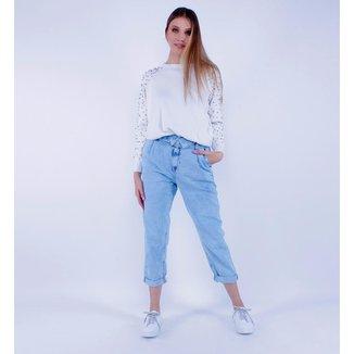 Calça Jeans Mom Dobra Pop Me Feminina