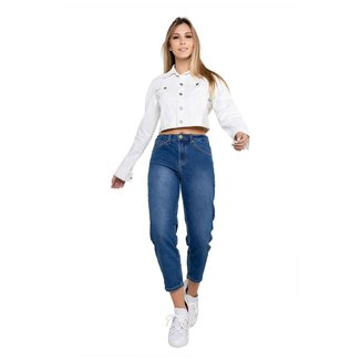 Calça Jeans Mom Elastano Feminina