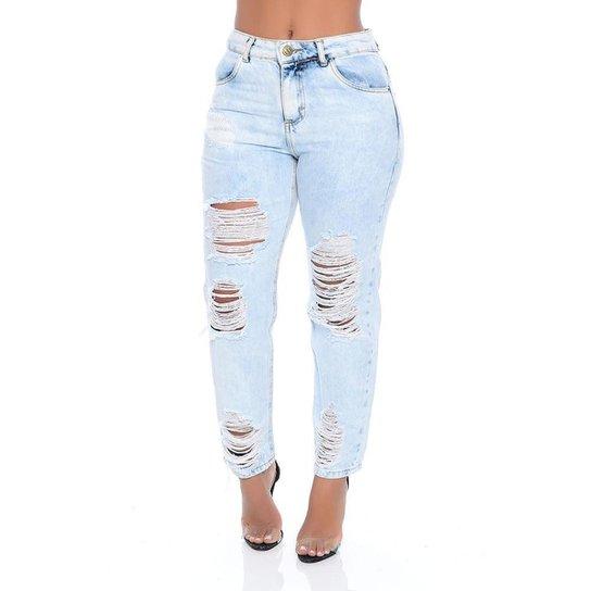 Calça Jeans Mom Emporio Alex - Azul