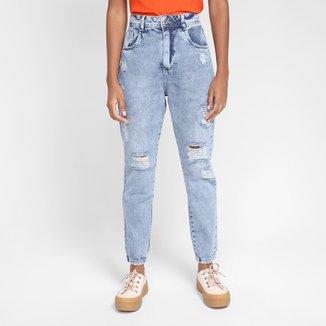 Calça Jeans Mom Exco Cintura Alta Feminina