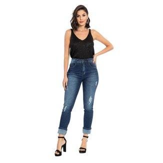 Calça Jeans Mom Feminina Biotipo Cintura Média Dia a Dia