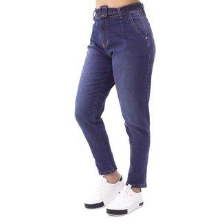 Calça Jeans Mom Feminina com Cinto Sol Jeans