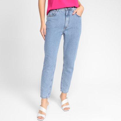 Calça Jeans Mom Forum Lola Cintura Alta Feminina