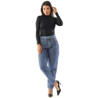 Calça jeans  mom Sawary Feminina
