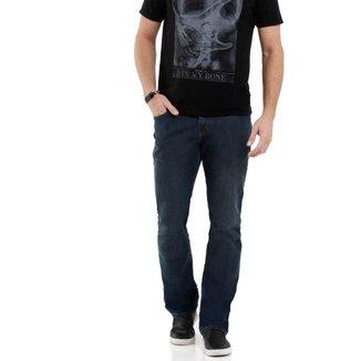 Calça Jeans MR Reta Bolsos Masculina