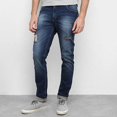 Calça Jeans Mucs Skinny Rasgos Masculina