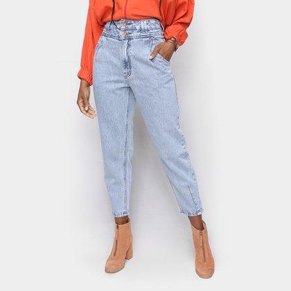 Calça Jeans Oh Boy Mom Cintura Alta Feminina