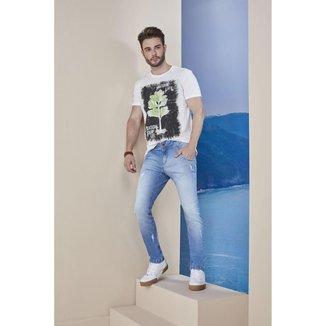 Calça Jeans Osmoze Skinny 5001100042 Azul - Azul - 44