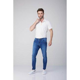 Calça Jeans Osmoze Skinny Linhaz 5001100060 Azul - Azul - 48