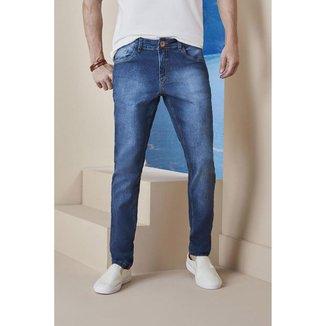Calça Jeans Osmoze Skinny Linhaz 5001100069 Azul - Azul - 48