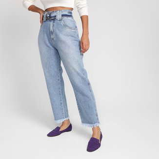 Calça Jeans Pantalona All Is Love Com Cinto Feminina