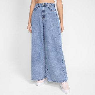 Calça Jeans Pantalona Colcci Cintura Alta Feminina