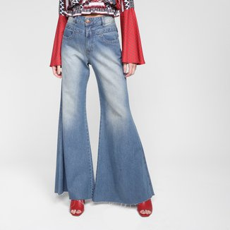 Calça Jeans Pantalona Oh,Boy! Cintura Alta Feminina