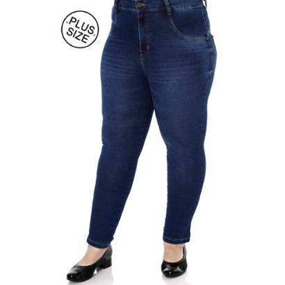 Calça Jeans Plus Size Amuage Skinny Feminina-Feminino