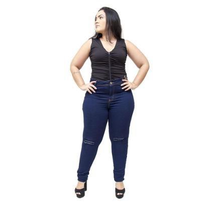 Calça Jeans Plus Size Credencial Skinny Nadieg Feminina-Feminino