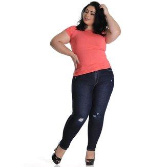 Calça jeans  plus size Sawary feminina