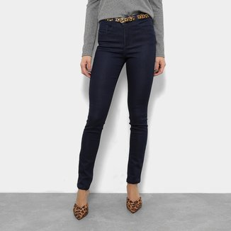 Calça Jeans Razon Cinto Cobra Cintura Média Feminina
