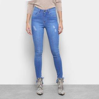 Calça Jeans Razon Skinny Barra Desfiada Feminina