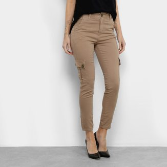 Calça Jeans Sawary Bolso Cintura Média Feminina
