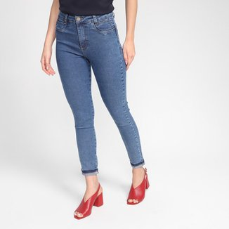 Calça Jeans Sawary Cigarrete Barra Virada Feminina