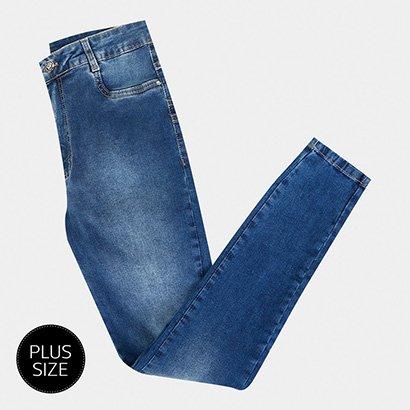 Calça Jeans Sawary Cigarrete Plus Size Feminina