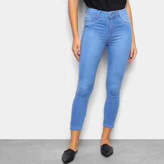 Calça Jeans Sawary Cropped Push Up Feminina