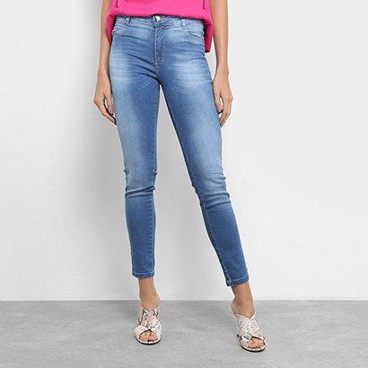 Calça Jeans Sawary Heart Cigarrete Feminina