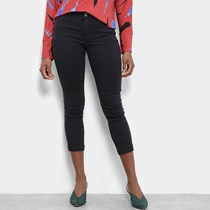 Calça Jeans Sawary Heart Skinny Croped Feminina