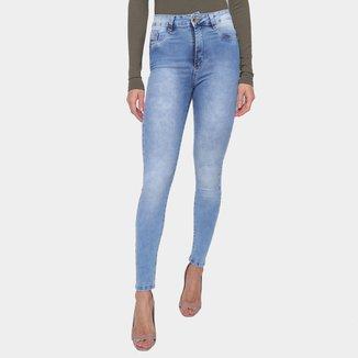 Calça Jeans Sawary Skinny Lavagem Clara Feminina