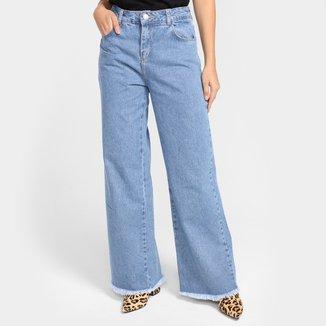 Calça Jeans Sawary Wide Leg Feminina