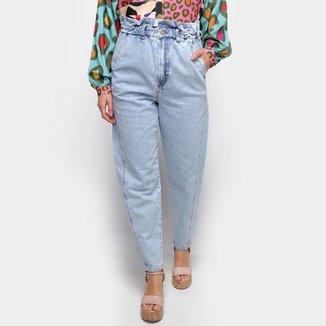 Calça Jeans Semi Baggy Farm Reform Cintura Alta Feminina
