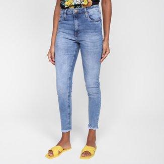 Calça Jeans Skinny Al Is Love Beretta Cintura Alta Feminina