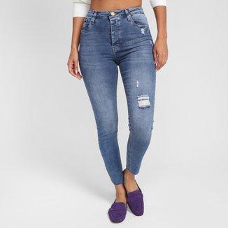 Calça Jeans Skinny All Is Love Cintura Alta Feminina
