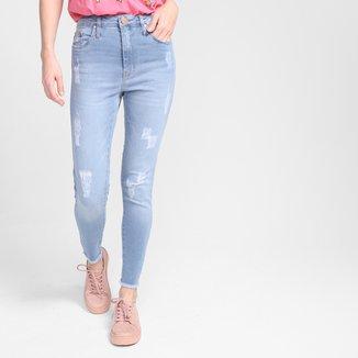 Calça Jeans Skinny All Is Love Rasgos Feminina