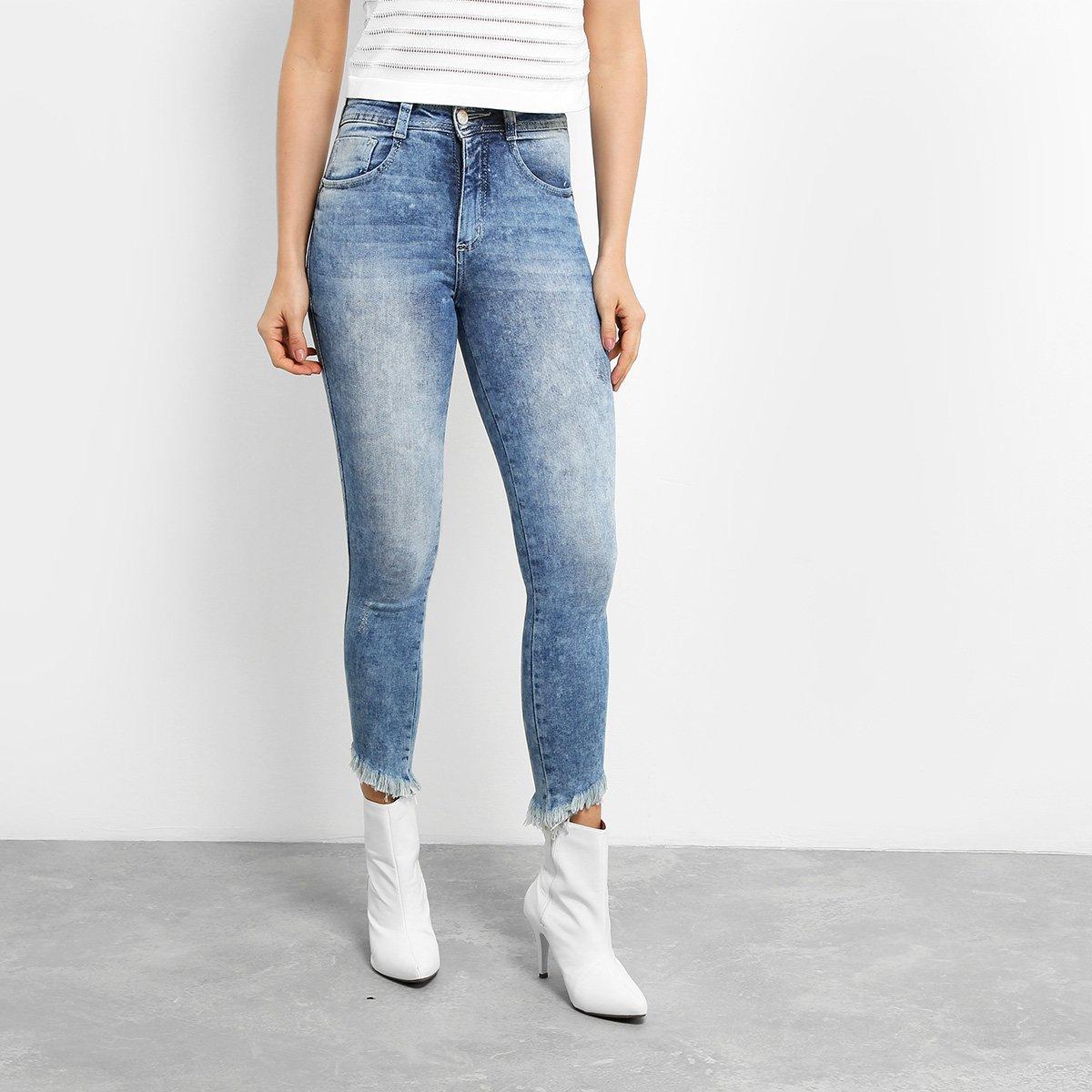 cb7f608a9 Calça Jeans Skinny Biotipo Cigarrete Barra Irregular Cintura Alta Feminina  | Zattini