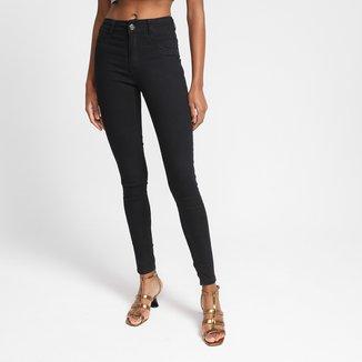 Calça Jeans Skinny Biotipo Cintura Alta Feminina