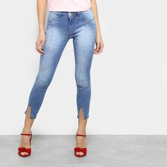 Calça Jeans Skinny Biotipo Cropped Feminina
