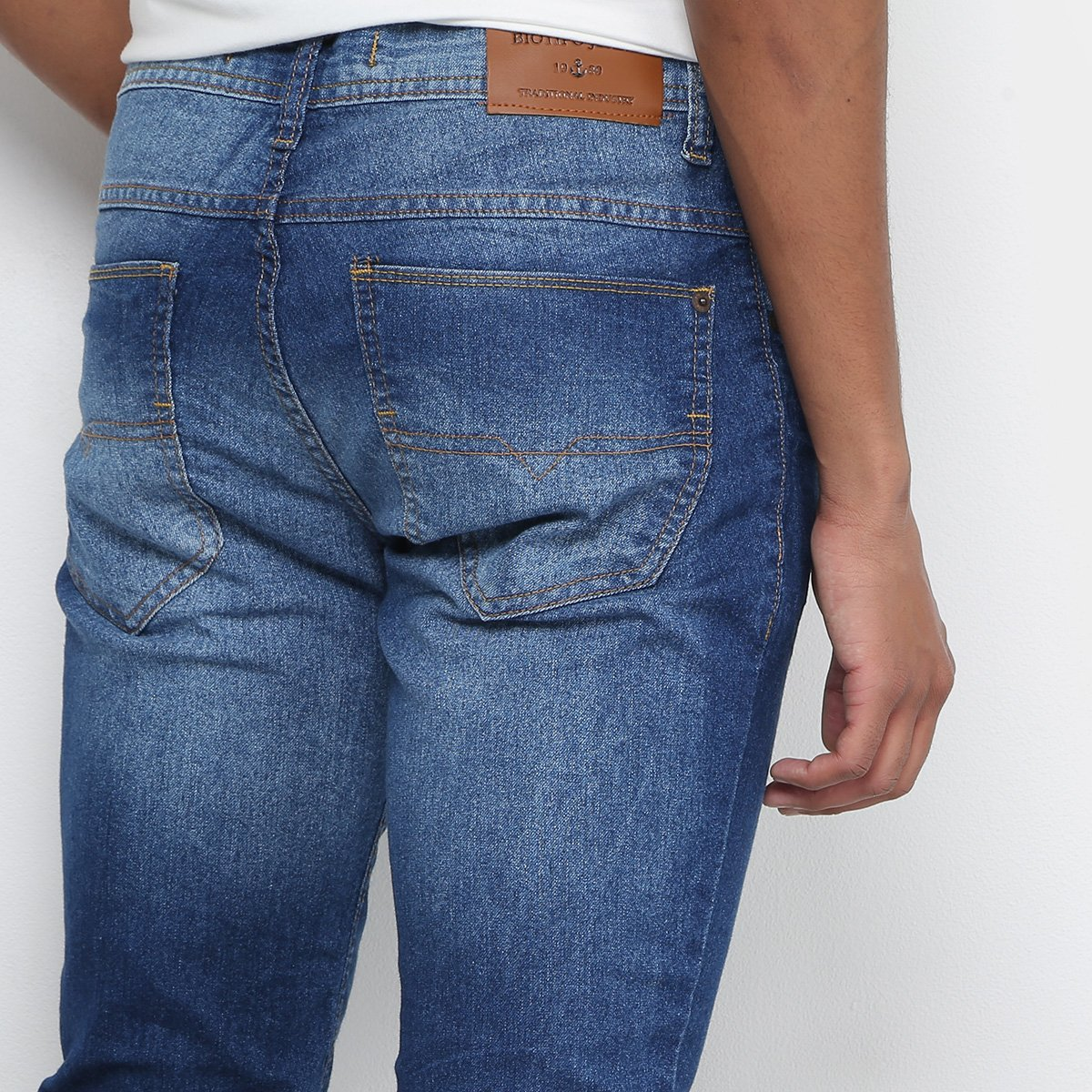 03295592db Calça Jeans Skinny Biotipo Estonada Masculina - Azul - Compre Agora ...