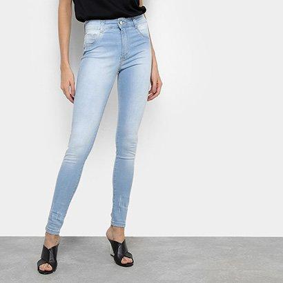 Calça Jeans Skinny Biotipo Lavagem Clara Cintura Média Melissa Feminina-Feminino