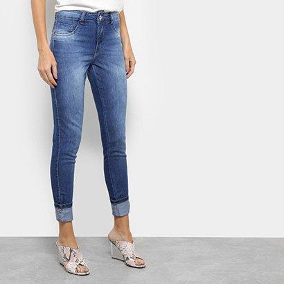 Calça Jeans Skinny Biotipo Melissa Barra Dobrada Feminina-Feminino