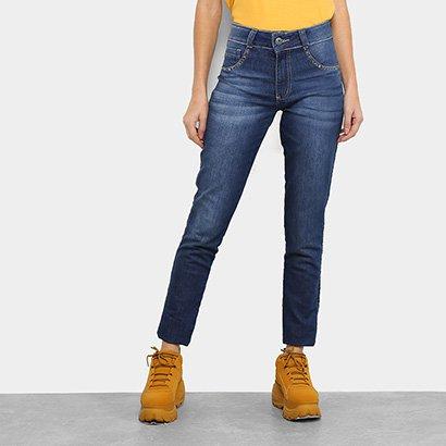 Calça Jeans Skinny Biotipo Melissa Cintura Média Aplicação Feminina-Feminino